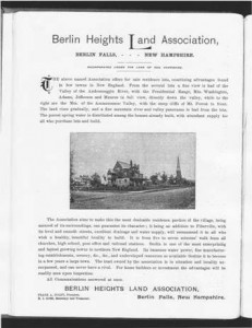Berlin Heights Land Association 1890