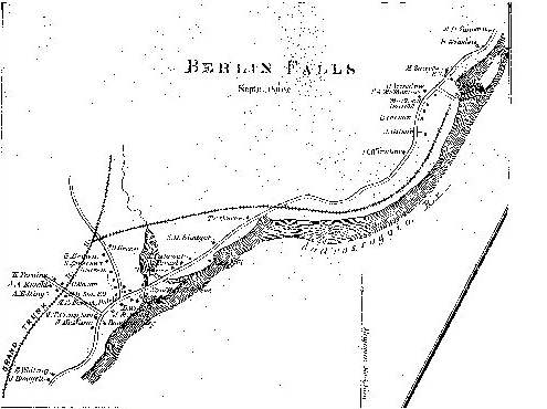 1861 Map of Berlin Falls