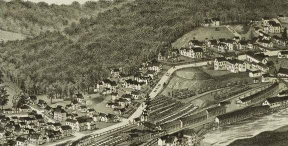 Berlin Mills Village in 1888 (Norris 1888)