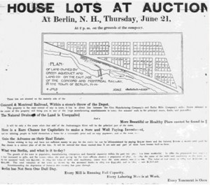 Notice of House Lots Auction
