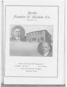 "George Harkins and John Mahern founders of the Berlin Foundry & Machine Co.("" Illustrated industrial edition of Berlin, New Hampshire"")"
