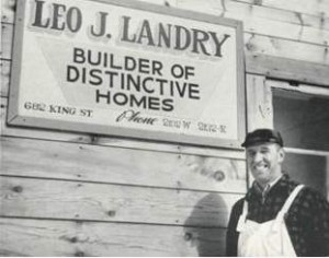 Photo of Leo Landry, general contractor for the houses.