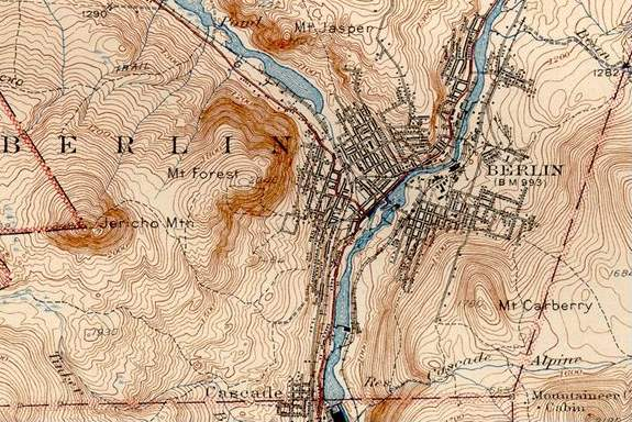 Topographical map of Berling USGS 1942
