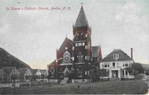 Postcard of St. Keiran's Catholic Church, Berlin, N.H.