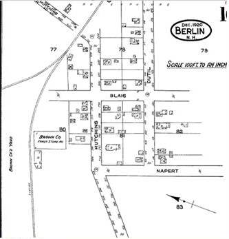 BluePrint drawing of Napert Village
