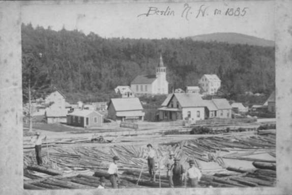 View of River Drivers, with Norwegian Village in the background (BCCHS)