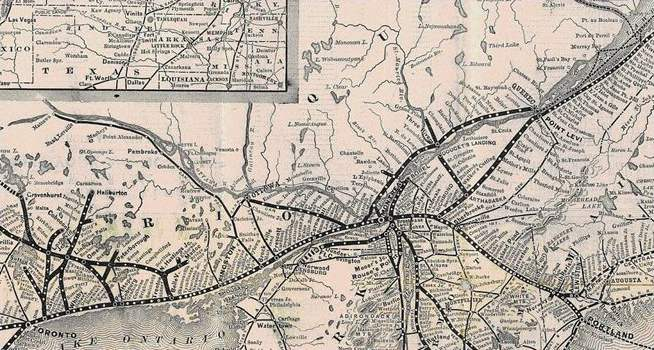 Map of The Grand Trunk Railway Provided a Direct Connection between Quebec and Berlin