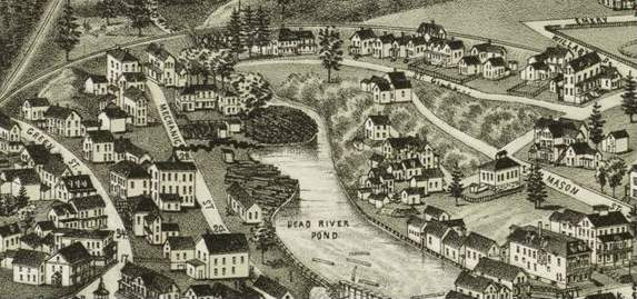 Drawing of St. Giles Area circa 1888